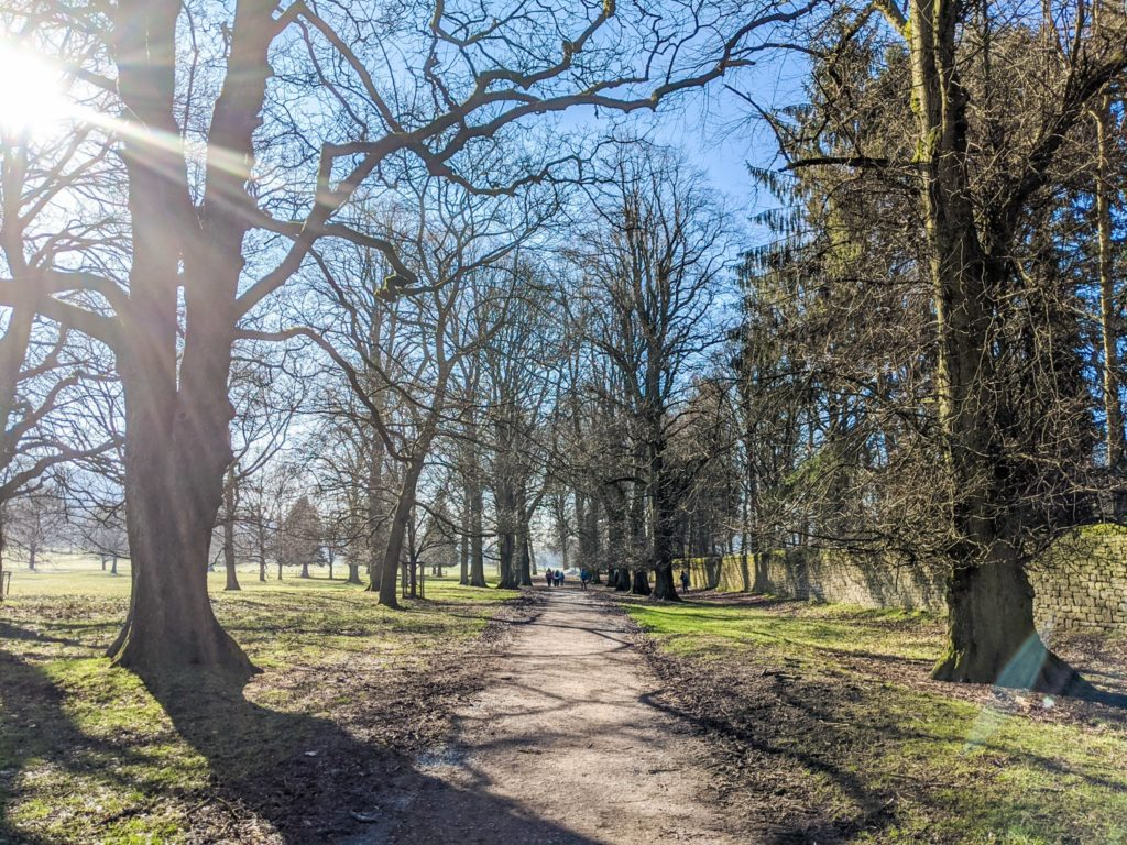walking to Chatsworth