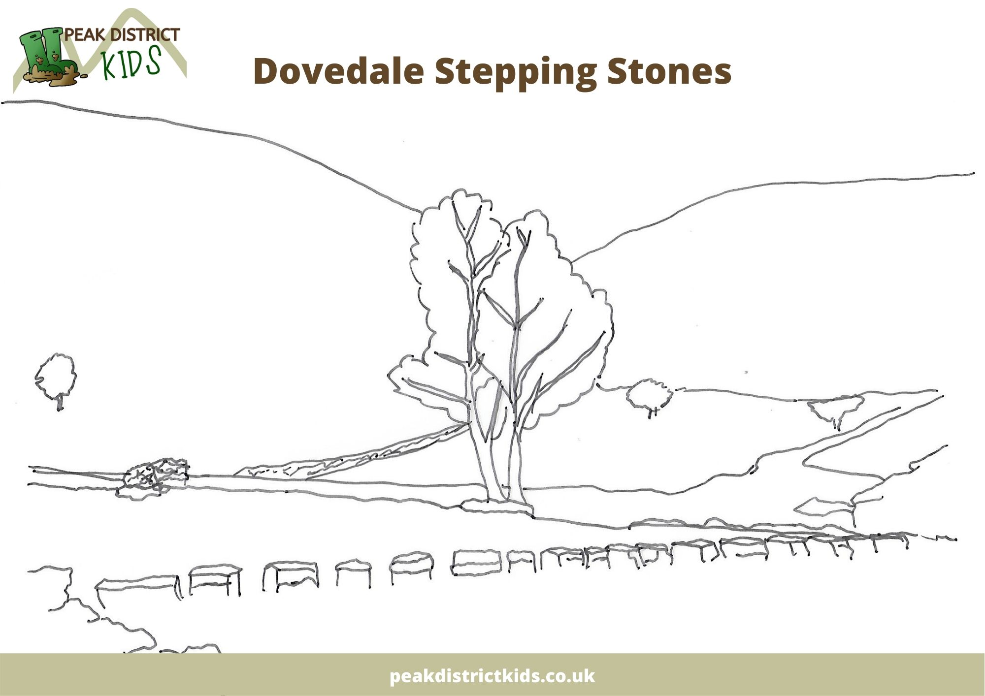 Peak District colouring sheets