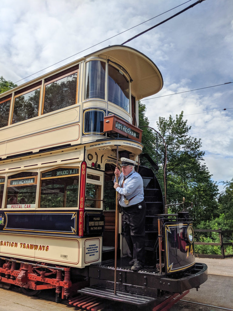 tram at Crich Tramway Museum