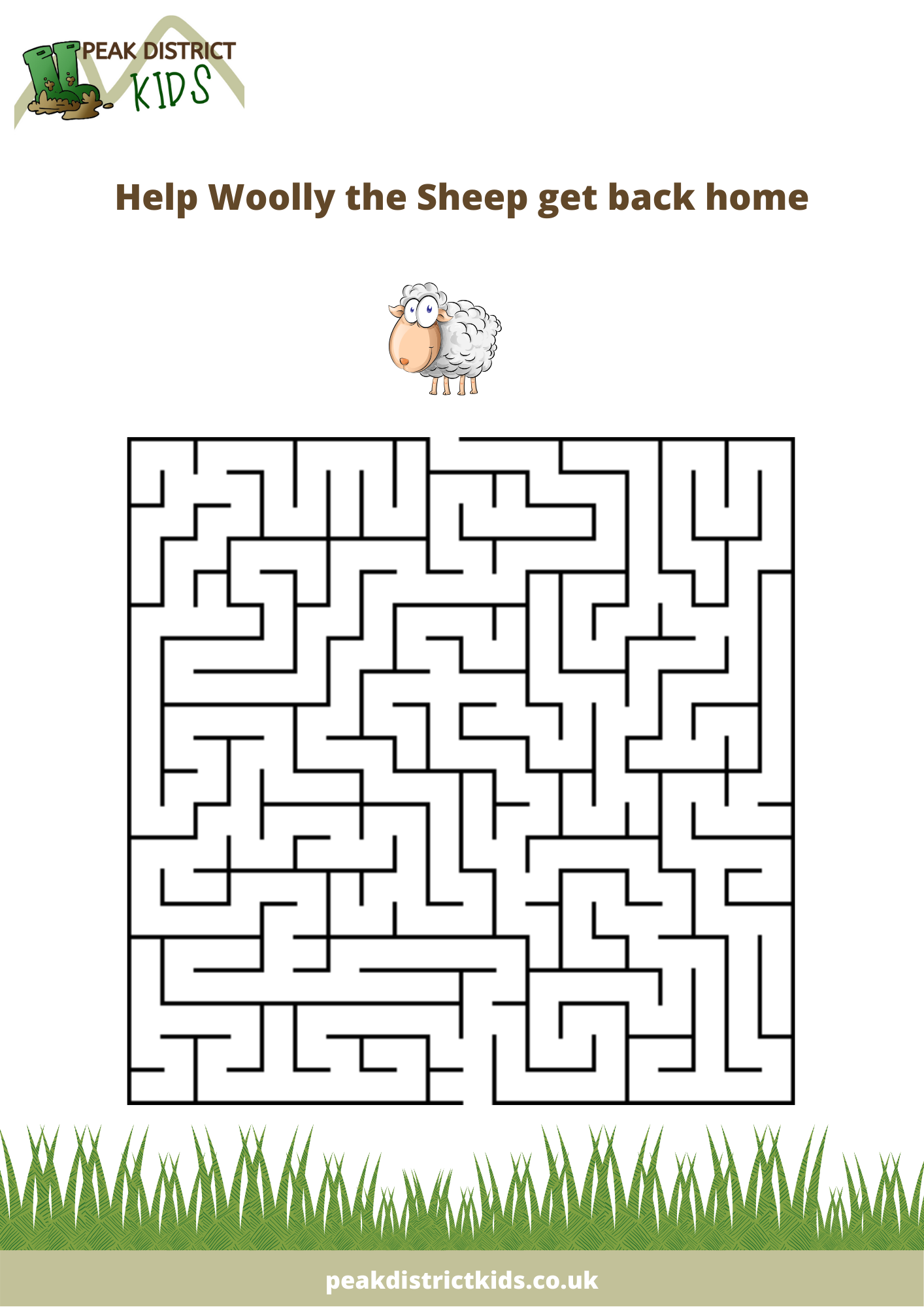 Woolly the Sheep kids puzzle maze